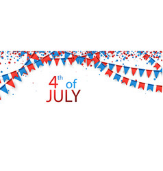 4th july background with flags vector image