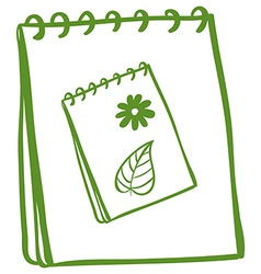 A notebook with a drawing of a notebook at the vector image