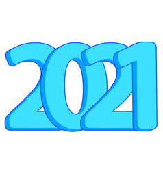 Abstract 2021 number vector