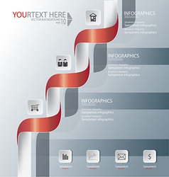 Abstract business infographic background vector image