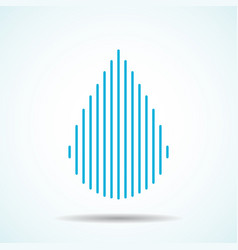 abstract drop water of lines logo vector image