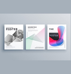 Abstract minimal brochure design template size a4 vector