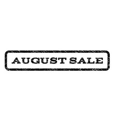 August sale watermark stamp vector