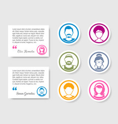 Avatar people icons for feedback and ratings vector