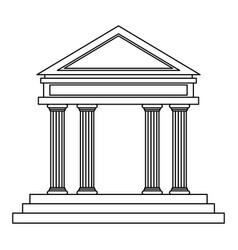 Bank building facade financial investment outline vector