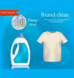 Brand wash clean concept background realistic vector