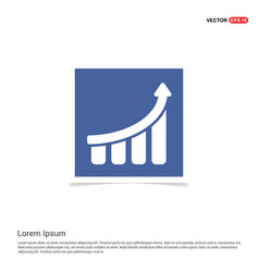 business graph icon - blue photo frame vector image