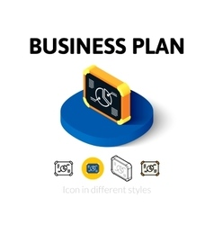 Business plan icon in different style vector