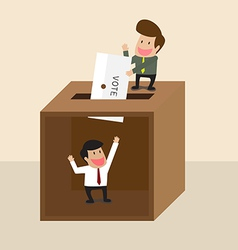 Businessman voting vector