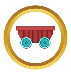 Cart on wheels icon vector