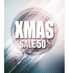 Christmas sale party poster or flyer vector