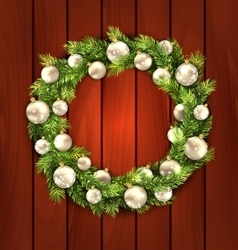 Christmas Wreath with Balls vector image