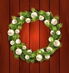 Christmas Wreath with Balls vector