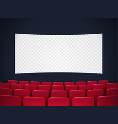 Cinema screen with red seats vector