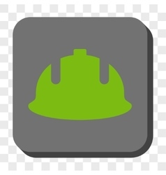 Construction Helmet Rounded Square Button vector