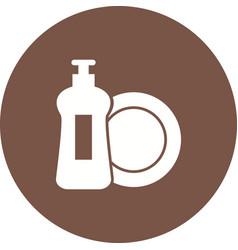 dishwashing soap vector image