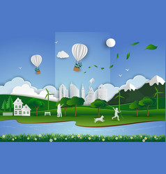 eco friendly save the environment conservation vector image