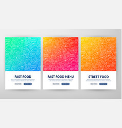 fast food flyer concepts vector image