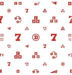 Font icons pattern seamless white background vector