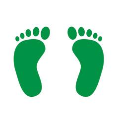 footprint icon human foot prints vector image