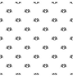 Fresh live crab pattern vector