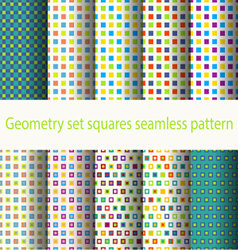 Geometry set squares seamless pattern vector image