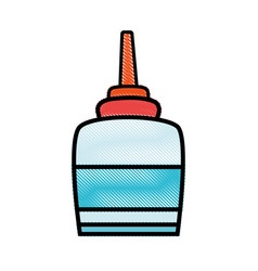 Grated glue object school education design vector