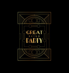 great retro party elegant vector image