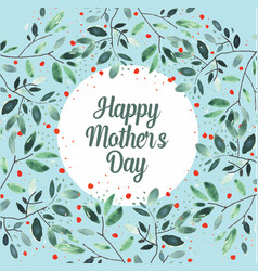 happy mothers day greetings card vector image