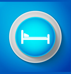 hospital bed icon isolated on blue background vector image