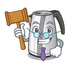 judge mascot cartoon household kitchen electric vector image
