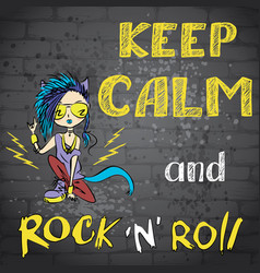 Keep calm and rock and roll vector