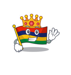 King flag mauritius in character shape vector