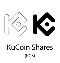 kucoin shares black silhouette vector image