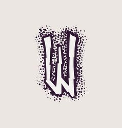 Letter w rune logo on dots background vector