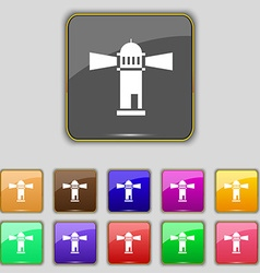 Lighthouse icon sign Set with eleven colored vector