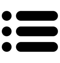 List the black color icon vector