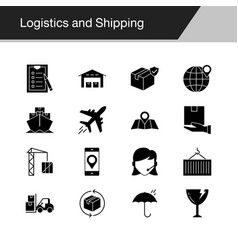 logistics and shipping icons design for vector image