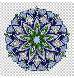 Mandala on transparent background vector