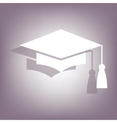 Mortar Board or Graduation Cap icon vector image