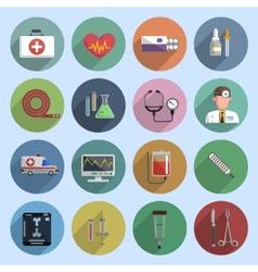 Multicolored medicine icon flat vector