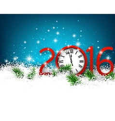 New year 2016 background with clock vector image