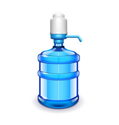 Office water bottle with pomp isolated on white vector