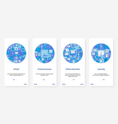 online education school learning creative process vector image
