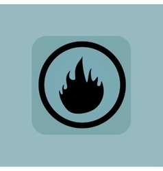 Pale blue fire sign vector