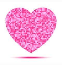 Pink Heart Pixel icon vector image