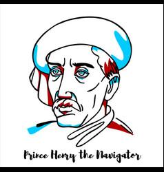 Prince henry navigator portrait vector