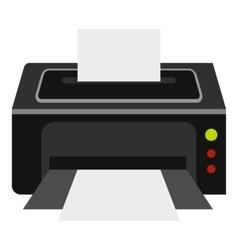 Printer icon flat style vector image