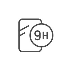 Protection screen scale line icon vector