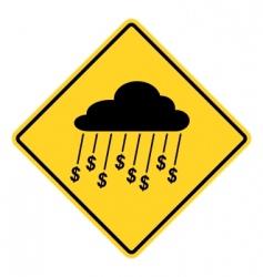 rain money sign vector image